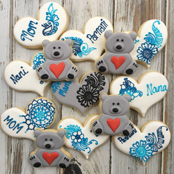 Henna and Bears Baby Shower Cookies