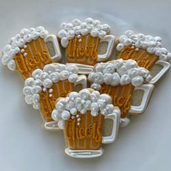 Beer Stein decorated cookies