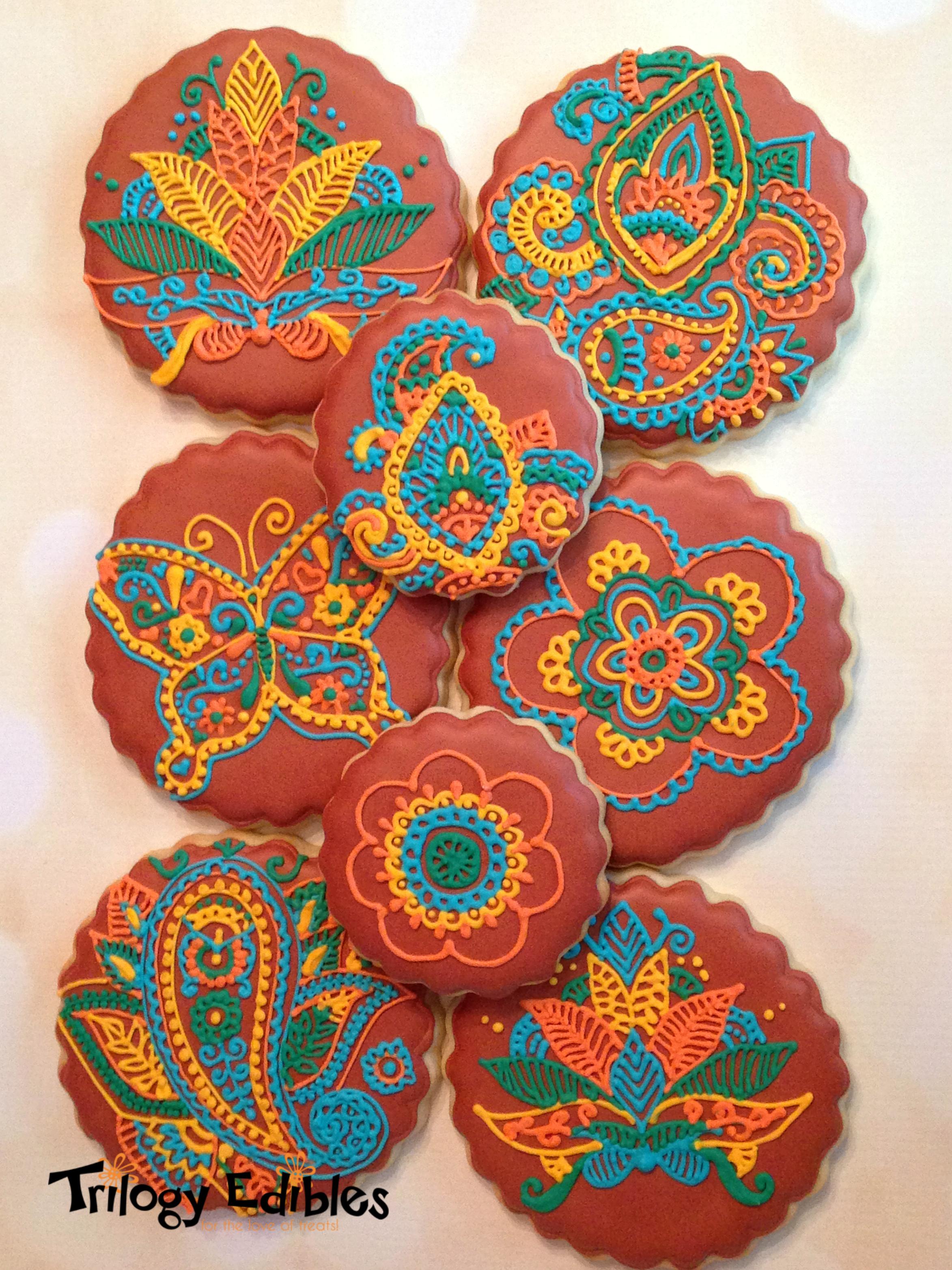 Mehndi cookies