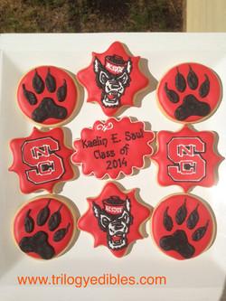 NC State Grad cookies