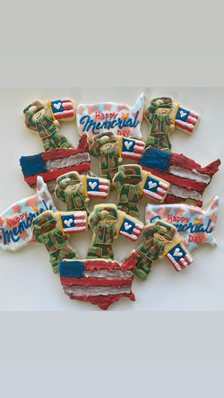 Memorial Day decorated cookies