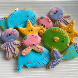Under The Sea decorated cookies