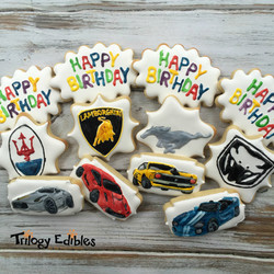 Fancy Car Cookies