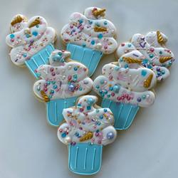 Unicorn cupcakes decorated cookies