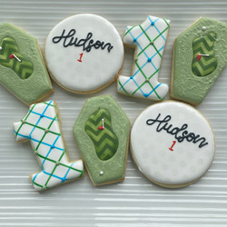 Golf decorated cookies