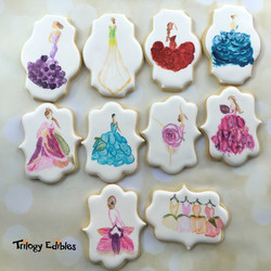 Flower Dresses Painted cookies