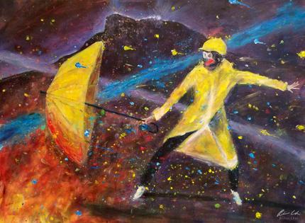 Yellow Umbrella Beneath the Lion Rock - 獅子山下的黃傘