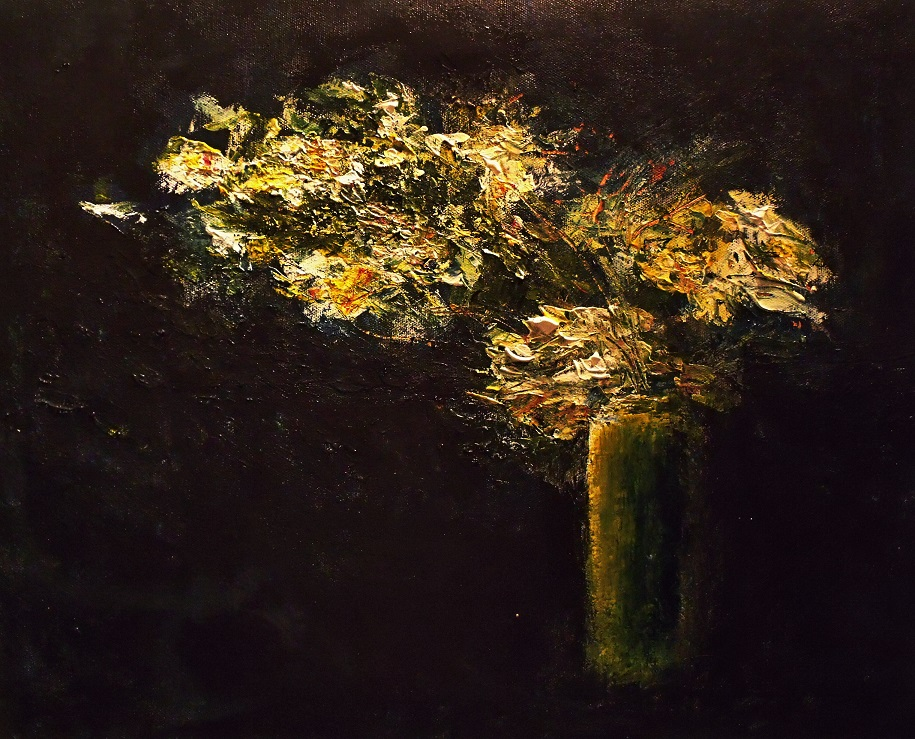 Flowers bursting from vase, yearning (not available)
