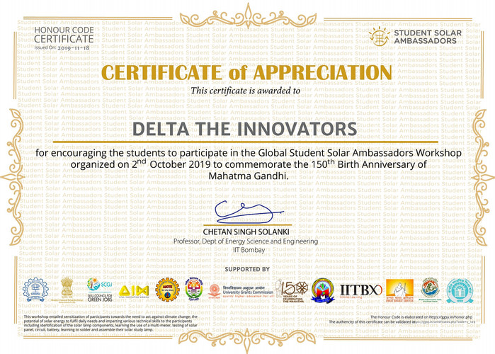 Delta The Innovators GGSY Certificate.jp