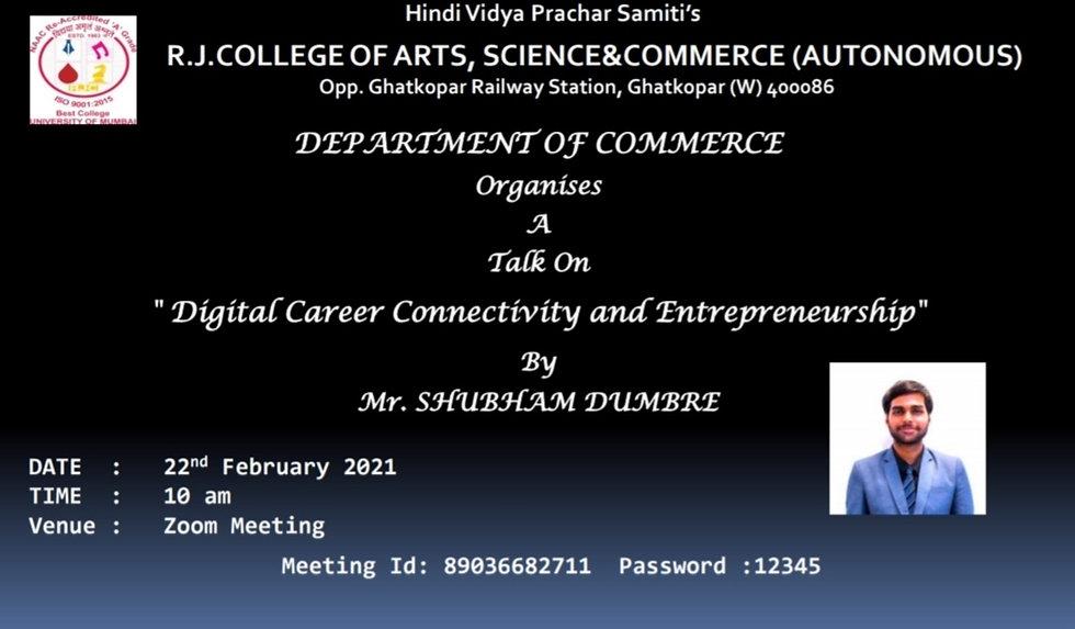 Digital Career Connectivity and Entrepreneurship