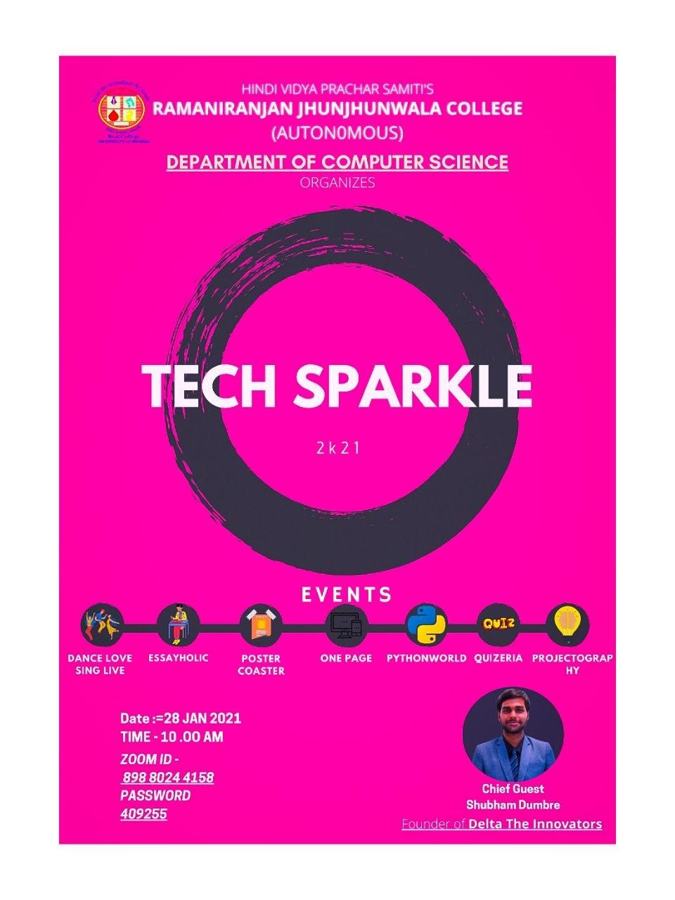 Chief Guest @ Techsparkle
