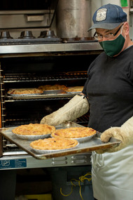Head bread baker Keith, also makes good pies