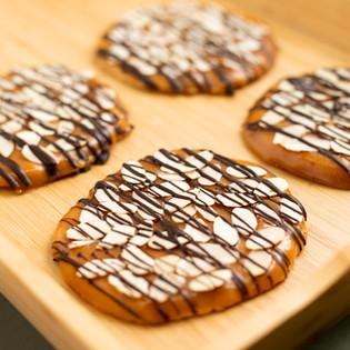 Caramel Almond Shortbread Cookie