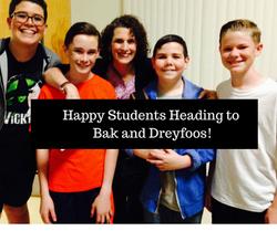 Happy Students Heading to Bak and Dreyfoos!