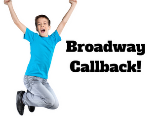 Broadway Callback for South Florida Singing Lessons Student