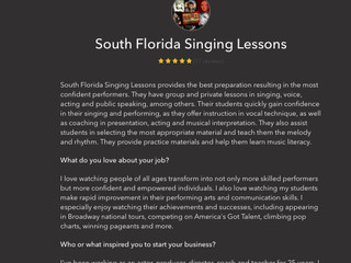 South Florida Singing Lesson Named Best Voice Lessons By Thumbtack!