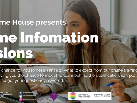 Online Information Sessions For August  Courses