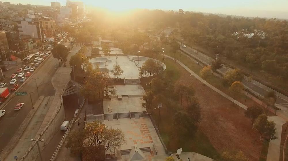 Skatepark Constituyentes vista aérea Premio Nacional de Diseño Diseña México 2017 EVISA