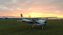 C152 G-PTTA Sunset shot