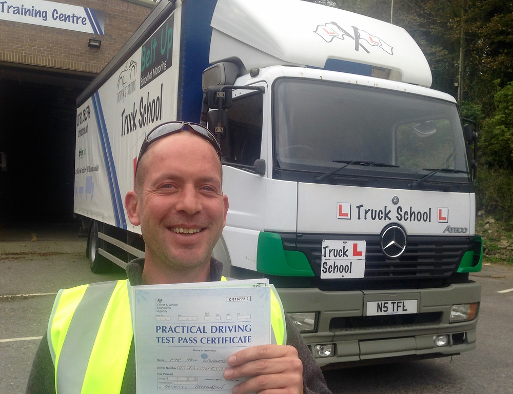 Congratulations Paul Windless on passing your cat C HGV last week