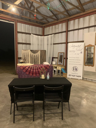 Private Meeting in Barn
