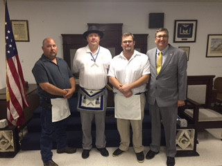 Congratulations to Our Newest Master Mason - John Ray!