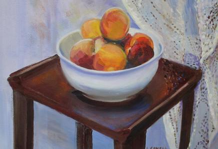 Peaches in Bowl