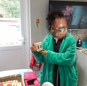Celebrating a birthday at SDA Care
