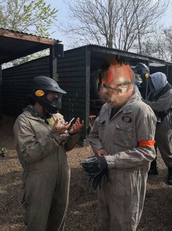 Paintballing offers a chance for young people to relax and socialise