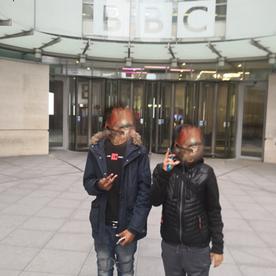 Outside BBC Centre