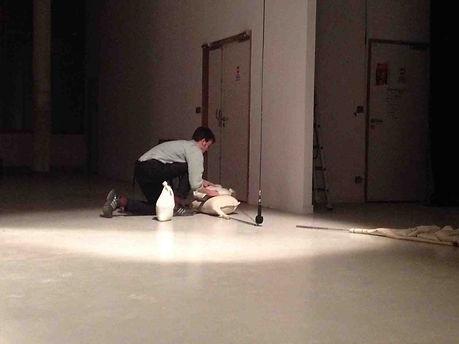 Octave Courtin, Bourdons et mouvements pendulaires, performance sonore, Ateliers du vent