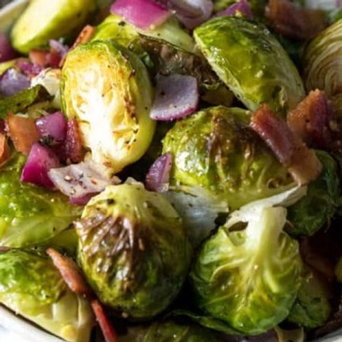 Brussels Sprouts w/ Onions & Bacon- FROZEN