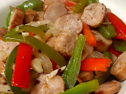Chicken Sausage, Peppers & Onions-FROZEN
