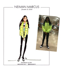 Live Sketch at Neiman Marcus