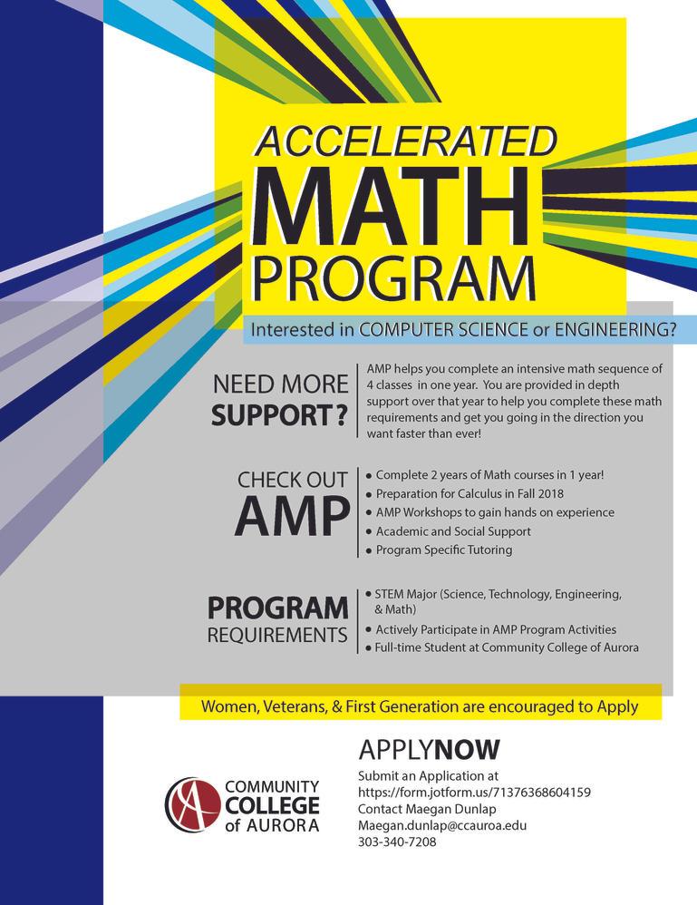 Math Program Poster