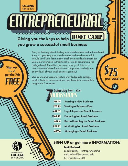 Entrepreneurial Program Poster