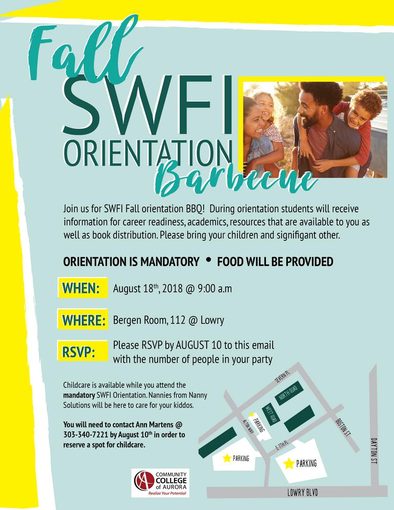 SWFI Summer Orientation