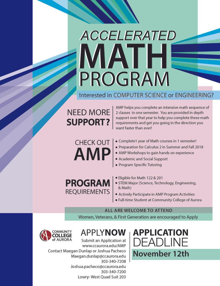 Math Program Flyer