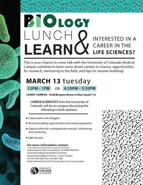 Bio Lunch and Learn