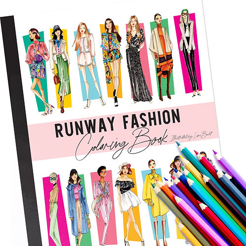 High Fashion Coloring Book