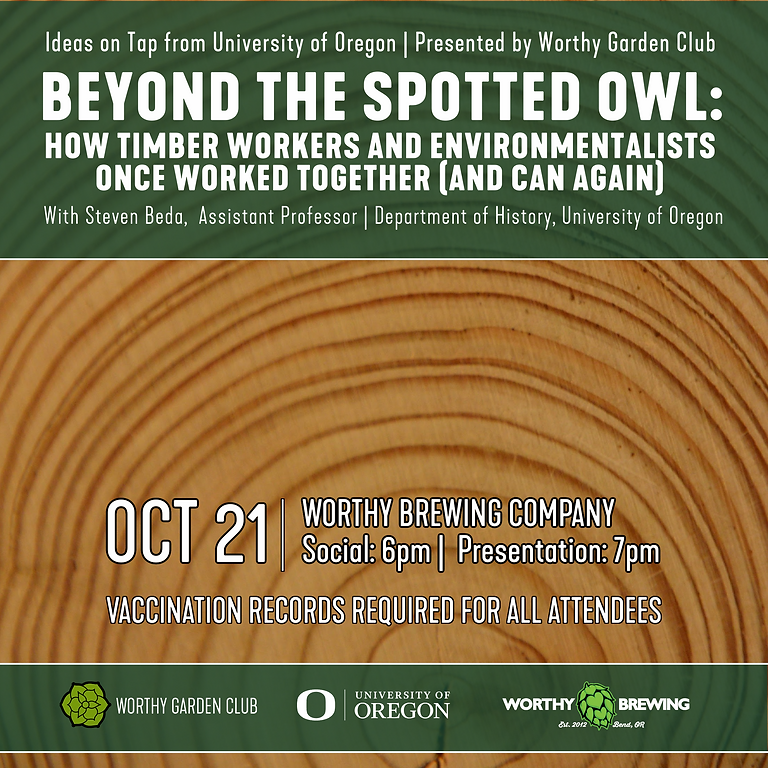 Ideas on Tap from UO: Beyond the Spotted Owl