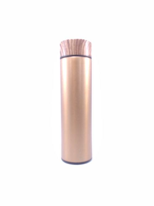 Termo vacuum flask metálico color dorado