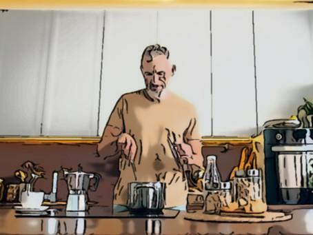 Preparando un buen café.