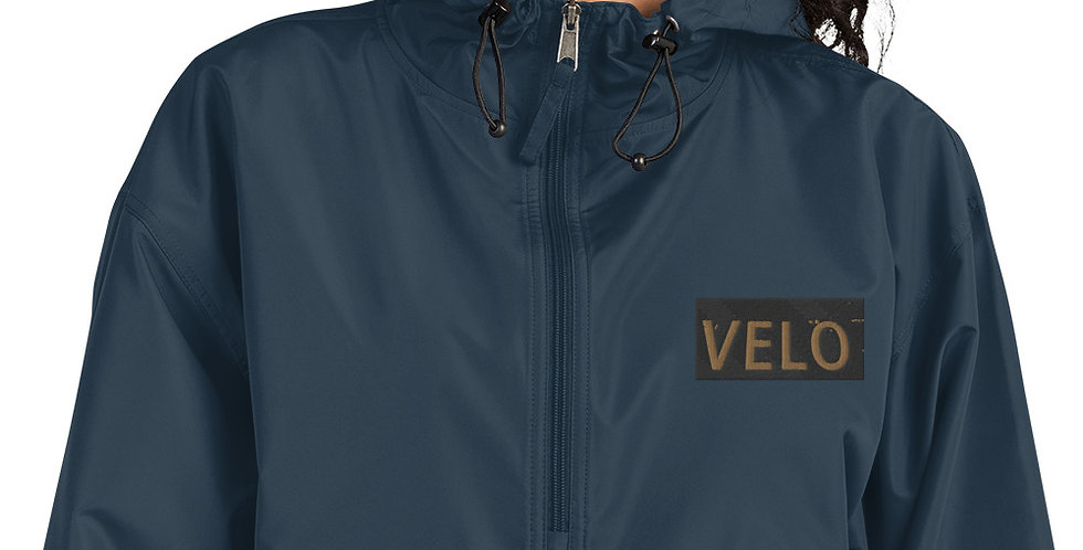 Velo Embroidered Champion Packable Jacket