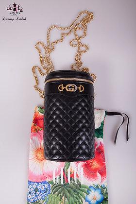 Gucci Calfskin Trapuntata Zumi Belt Bag Black