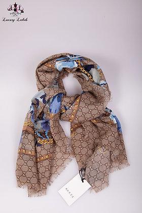 Gucci shawl w/blue flowers (brand new w/tags)