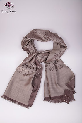 Gucci GG taupe/brown Scarf (Brand New w/tags)
