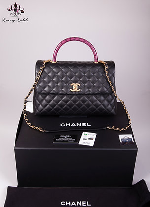 Chanel Medium Coco Handle Bag with Lizard Handle