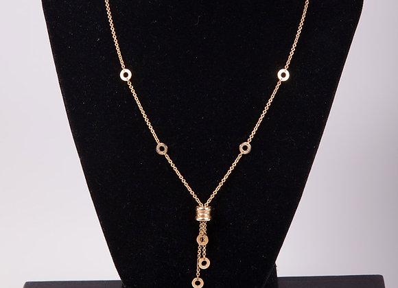 "Bvlgari 18K Yellow Gold ""B.Zero1"" Pendant Necklace"