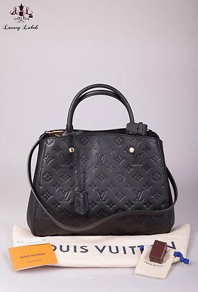 Louis Vuitton Montaigne MM Black Empriente Leather (Brand New)